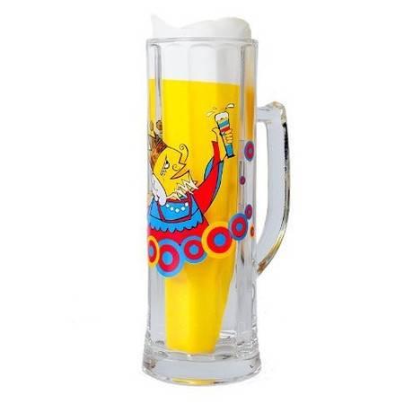 格拉迪奥 德国进口 水晶玻璃 有柄啤酒杯 快乐皇帝款式(全球限量5000个) 102002