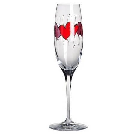 格拉迪奥 德国进口 无铅水晶 香槟杯 心心相印款式(全球限量5000个) 204001