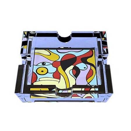 格拉迪奥 德国进口 水晶玻璃 水晶方缸(烟灰缸) 裸女款式(全球限量5000个) 206005