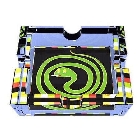 格拉迪奥 德国进口 水晶玻璃 水晶方缸(烟灰缸) 盘蛇款式(全球限量5000个) 206004