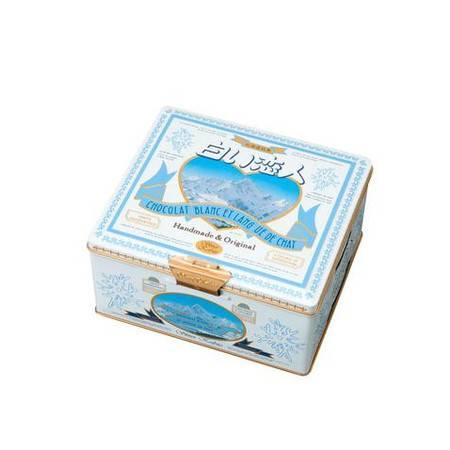 北海道 白色恋人36枚黑白夹心饼干铁盒装  36枚  一周到货一次,保证最新鲜