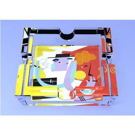 格拉迪奥 德国进口 水晶玻璃 水晶方缸(烟灰缸) 抽象款式(全球限量5000个) 206011