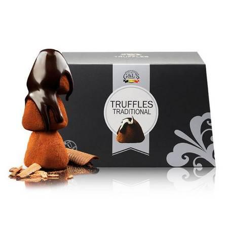比利时进口 德菲丝松露巧克力 黑色传统系列 1000g