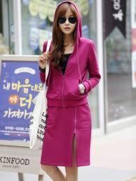 2014秋冬新款韩版高品质休闲时尚卫衣套装套裙