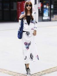2014新款青春休闲韩版卫衣套装套裙