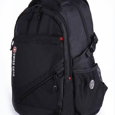 瑞士军刀 SWISSGEAR 15寸商务运动双肩包黑色、绿色 学生书包