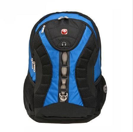瑞士军刀包 SWISSGEAR 17寸 多功能双肩包 背包 旅行包 书包蓝色