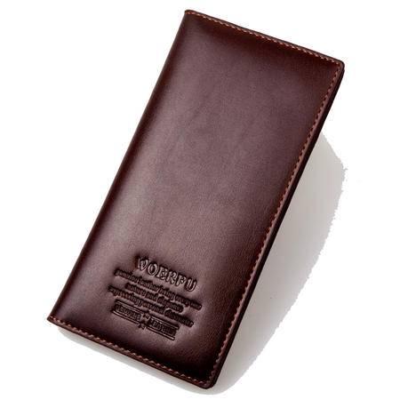 钱包 皮夹 男 真皮复古韩版西装包-直销-软-黑色-棕色-长票夹