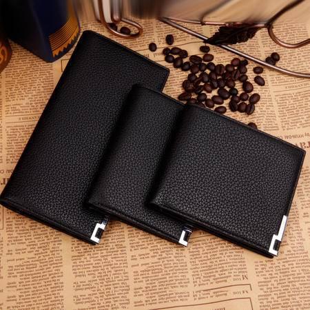 男式皮夹钱包真皮长款钱夹新款简洁 长短款