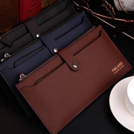 新款男士钱包长款拉链真皮手包男皮夹商务休闲男士手拿包横款包包