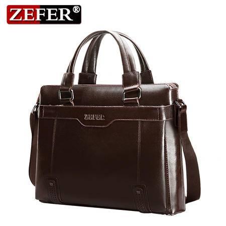 ZEFER男包电脑公文包男士手提包商务单肩斜挎包