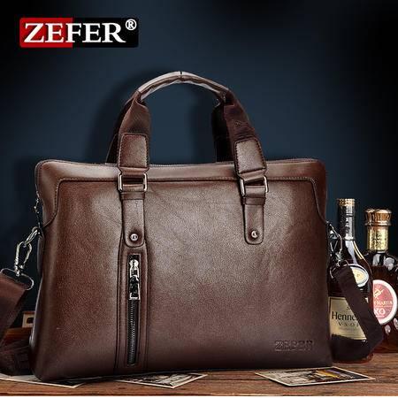 新款zefer男士商务包公文包 男士单肩包手提商务电脑包