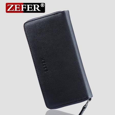 zefer新款男士钱包 男士商务手包 男款手拿包 长款钱包