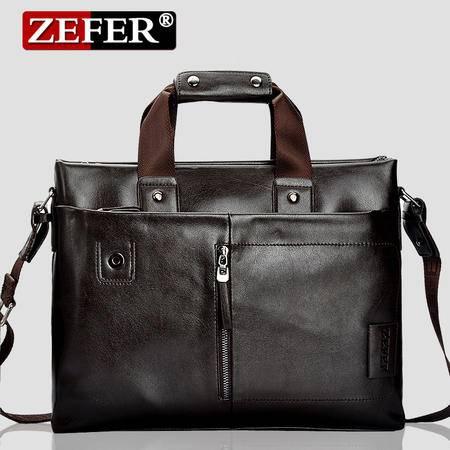 ZEFER 新款商务男士手提包经典横款手提斜挎包