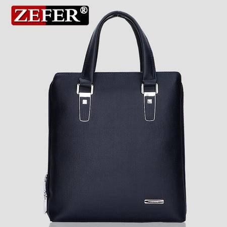 ZEFER 男士竖款单肩男包韩版时尚 锁扣休闲手提包包