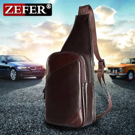 ZEFER新款 男包情侣腰包 休闲运动胸包 拼接斜挎包