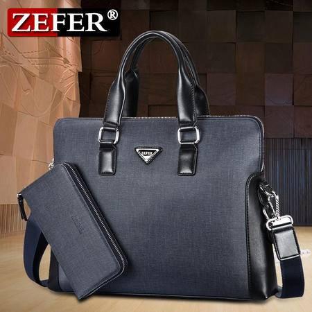 zefer男包正品子母包 男士手提包商务包 单肩斜跨公文包