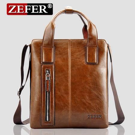 ZEFER竖款手提男包 商务手提斜挎包 公文包品牌男包
