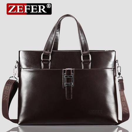 ZEFER男士手提包男包商务公文包 单肩斜挎电脑包男士包包