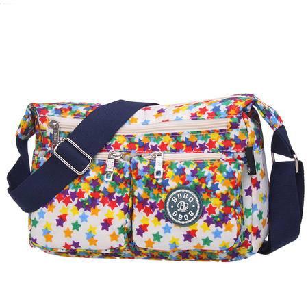 2015新款单肩斜跨多功能旅游包女包撞色女包糖果色包袋