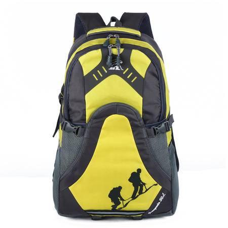 新款6入色时尚户外运动双肩包大容量尼龙防水登山包