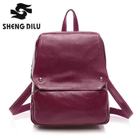 2015新款韩版真皮双肩包牛皮女包旅行包背包
