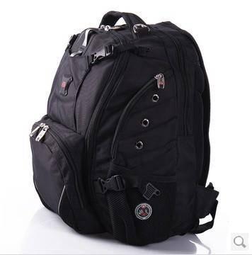 WISSGEAR瑞士军刀超大容量旅行背包霸气笔记本包15寸书包