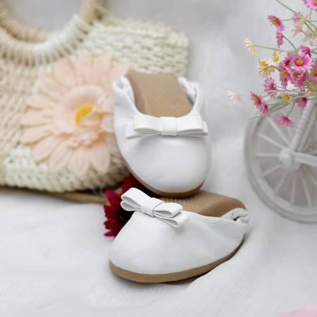 2015秋季新款平底单鞋女甜美蝴蝶结蛋卷鞋单鞋