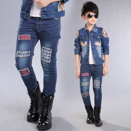 童装男童春秋装裤子 儿童牛仔裤男孩子2016新款童裤韩版