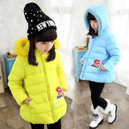 童棉衣 2016冬季新款韩版儿童棉服女童宝宝棉衣中长款童装