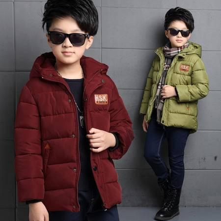 2016冬季新款男童大童棉衣棉服 童装厂家爱直销童棉衣