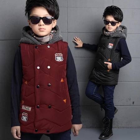童装冬装 男童棉马甲背心加厚 韩版儿童外套大童马夹秋冬款潮
