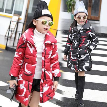 2016秋冬女童装棉衣 女大童冬装加厚棉服儿童冬款童装外套潮