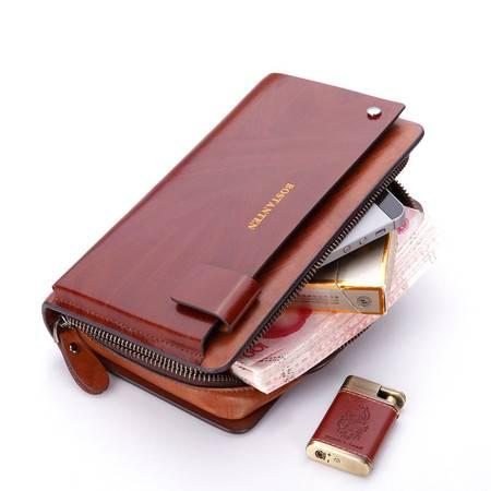 波斯丹顿男士手包商务钱包牛皮手抓包大容量手拿包男包小号B20102_3