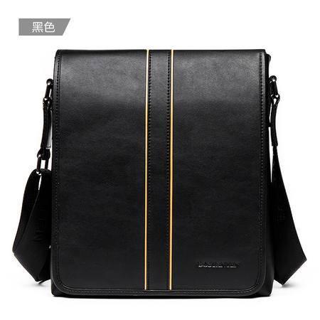 波斯丹顿新款商务单肩包男撞色休闲包盖式斜跨男包时尚男士包包潮B152541