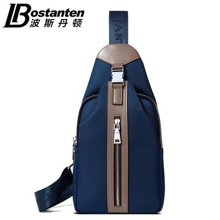 波斯丹顿 波斯丹顿新品男士胸包男斜挎包单肩包男韩版休闲背包潮流撞色男包B552091