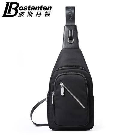 波斯丹顿胸包男士斜挎包韩版帆布单肩包旅行休闲包斜挎男包小背包B5152051