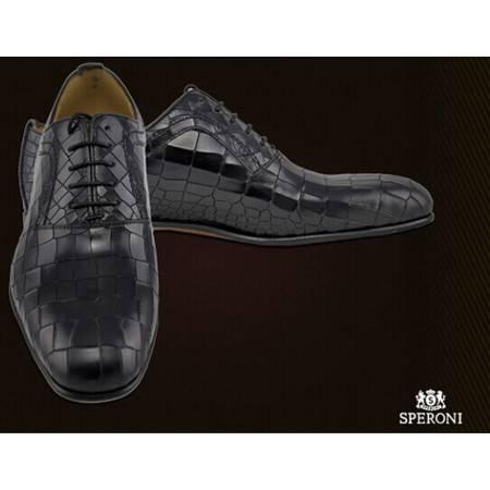 铁狮丹尼鳄鱼皮男士皮鞋SP100118