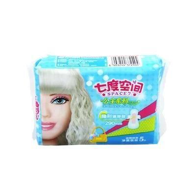 七度空间公主系列净爽表层卫生巾 夜用290mm 5片