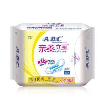 ABC卫生巾亲柔立围超极薄日用240mm棉柔排湿表层8片