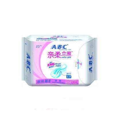 ABC亲柔立围夜用棉柔超极薄卫生巾8片K84