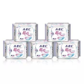 ABCK22隐形超级薄棉柔扩垫22片装,适量吸收独有KMS健康配方  5包