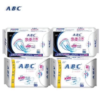 ABC卫生巾包邮组合装K11日用K88超长夜用棉柔纤薄表层22片装