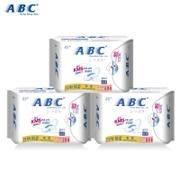 ABC 棉柔表层0.1cm超级薄日用卫生巾240mm8片K13 纯棉透气快吸收