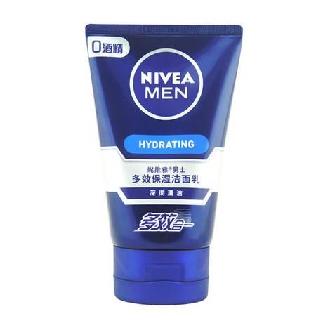 妮维雅 男士多效保湿洁面乳100ml 控油保湿 补水 深层清洁 洗面奶