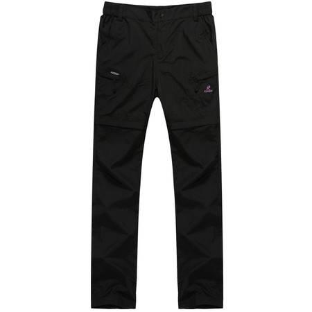 凯仕达 女款运动裤户外冲锋裤透气快干登山裤可脱卸两用KB6811-2