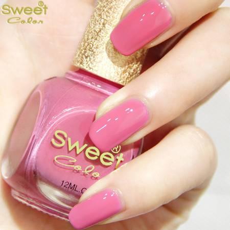 满百包邮 Sweet Color环保指甲油 漆光实色系列 甜蜜玫粉S273 12ML