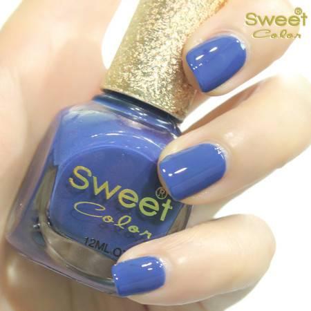 满百包邮 Sweet Color环保指甲油 糖果色漆光实色 可口清新蓝莓S228 12ML