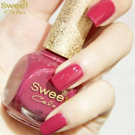 满百包邮 Sweet Color环保指甲油 糖果色漆光实色系列 流光溢彩 玫红色S332 12ML