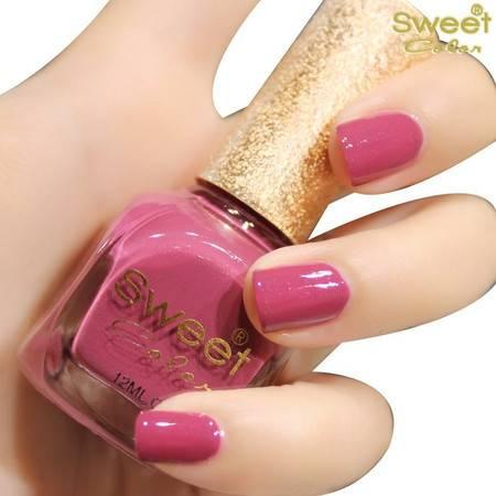 满百包邮 Sweet Color环保指甲油 糖果色漆光实色系列 莱坞紫罗兰S379 12ML